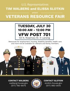July 30th Vetrans Resource Fair